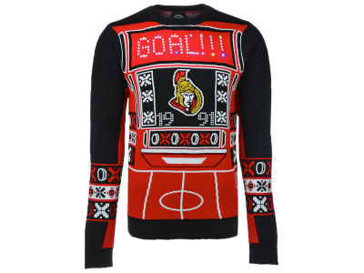 Ottawa Senators NHL Men's Light Up Ugly Sweater