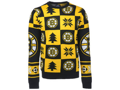 Boston Bruins NHL Men's Patches 2.0 Ugly Sweater