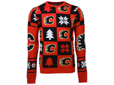 Calgary Flames NHL Men's Patches 2.0 Ugly Sweater