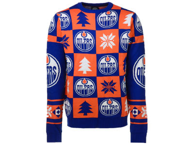 Edmonton Oilers NHL Men's Patches 2.0 Ugly Sweater