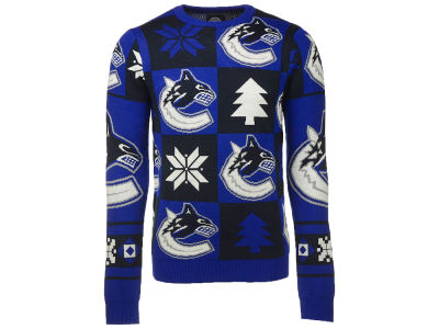 Vancouver Canucks NHL Men's Patches 2.0 Ugly Sweater