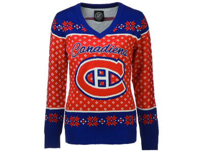 Montreal Canadiens NHL Women's 2.0 V-Neck Ugly Sweater