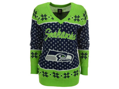 Seattle Seahawks NFL Women's Big Logo Ugly Sweater