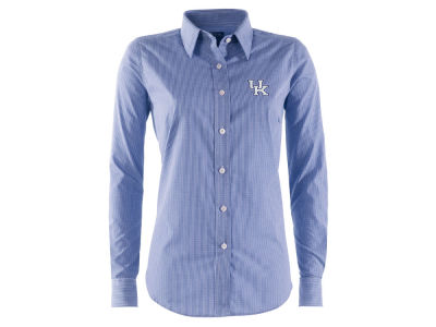 Kentucky Wildcats NCAA Womens Long Sleeve Focus Button Down Collar Shirt