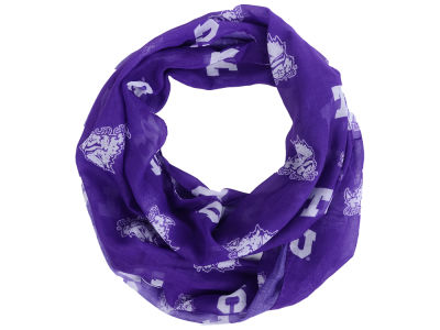 Texas Christian Horned Frogs All Over Logo Infinity Wrap Scarf