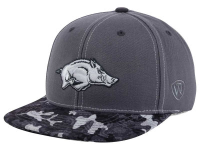 Arkansas Razorbacks Top of the World NCAA Luete Snapback Cap