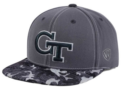Georgia-Tech Top of the World NCAA Luete Snapback Cap