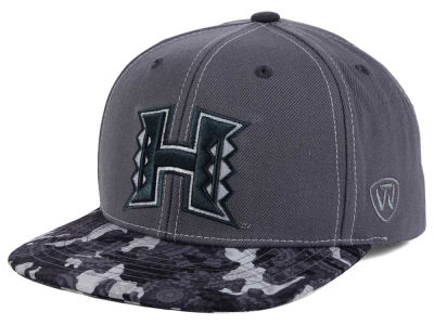 Hawaii Warriors Top of the World NCAA Luete Snapback Cap