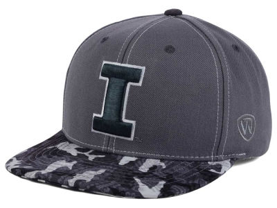 Illinois Fighting Illini Top of the World NCAA Luete Snapback Cap