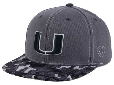 Miami Hurricanes Top of the World NCAA Luete Snapback Cap