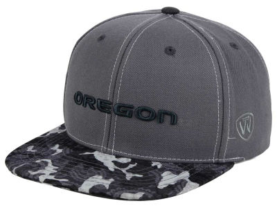 Oregon Ducks Top of the World NCAA Luete Snapback Cap
