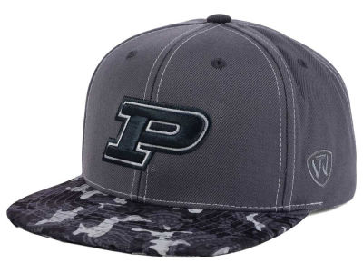 Purdue Boilermakers Top of the World NCAA Luete Snapback Cap