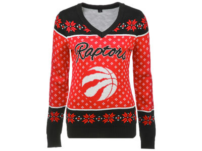 Toronto Raptors NBA Women's 2.0 V-Neck Ugly Sweater