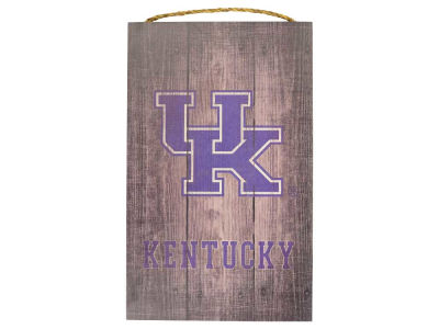 Kentucky Wildcats 11x19 Gray Distressed Wood Sign
