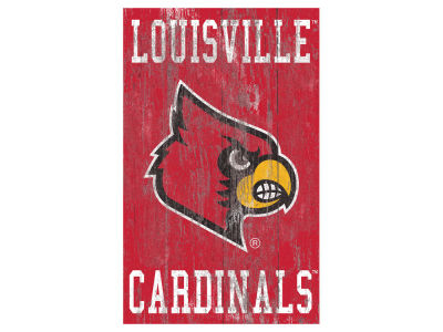 Louisville Cardinals 11x19 Heritage Distressed Logo Sign