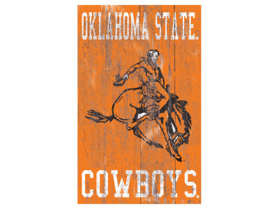 Oklahoma State Cowboys 11x19 Heritage Distressed Logo Sign