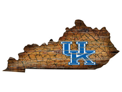 Kentucky Wildcats Team Logo Road Map Wall Art