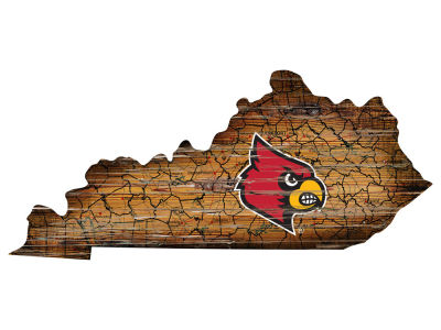Louisville Cardinals Team Logo Road Map Wall Art