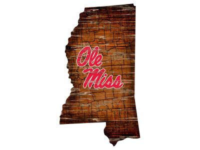 Ole Miss Rebels Team Logo Road Map Wall Art