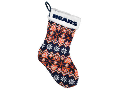Chicago Bears Ugly Sweater Knit Team Stocking