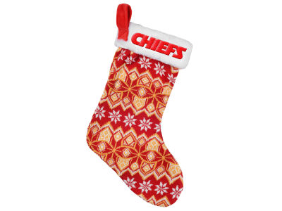 Kansas City Chiefs Ugly Sweater Knit Team Stocking