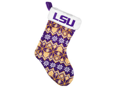 LSU Tigers Ugly Sweater Knit Team Stocking