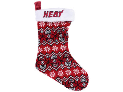 Miami Heat Ugly Sweater Knit Team Stocking