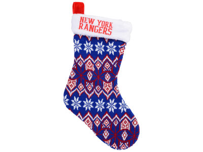 New York Rangers Ugly Sweater Knit Team Stocking
