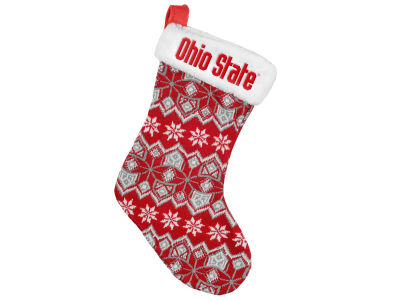 Ohio State Buckeyes Ugly Sweater Knit Team Stocking