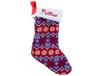 Philadelphia Phillies Ugly Sweater Knit Team Stocking