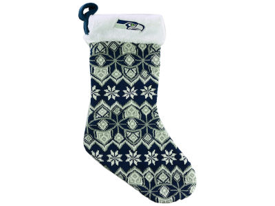 Seattle Seahawks Ugly Sweater Knit Team Stocking