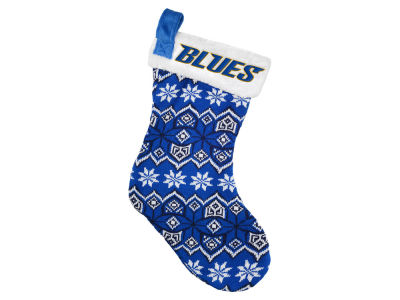 St. Louis Blues Ugly Sweater Knit Team Stocking
