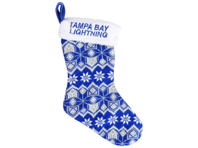 Tampa Bay Lightning Ugly Sweater Knit Team Stocking