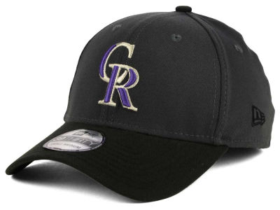 Colorado Rockies New Era MLB Graphite Team Classic 39THIRTY Cap