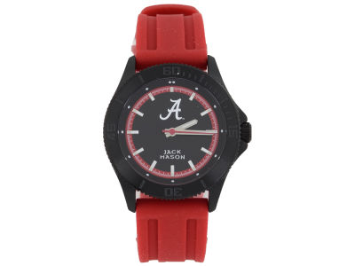 Alabama Crimson Tide Jack Mason Men's Blackout Silicone Strap Watch