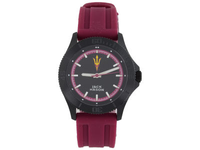 Arizona State Sun Devils Jack Mason Men's Blackout Silicone Strap Watch
