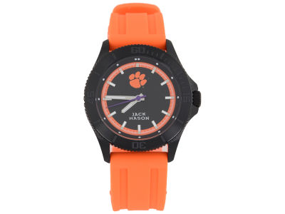 Clemson Tigers Men's Blackout Silicone Strap Watch