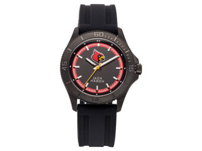 Louisville Cardinals Jack Mason Men's Blackout Silicone Strap Watch