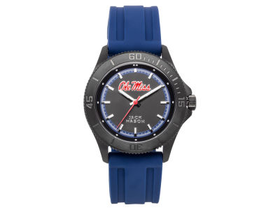 Ole Miss Rebels Men's Blackout Silicone Strap Watch