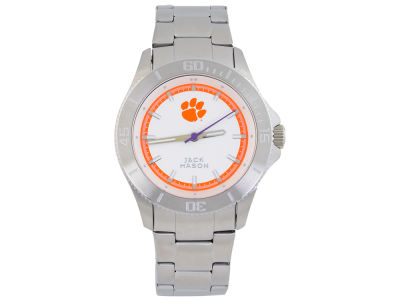 Clemson Tigers Men's Sport Bracelet Silver Watch