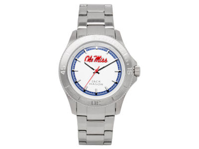 Ole Miss Rebels Men's Sport Bracelet Silver Watch