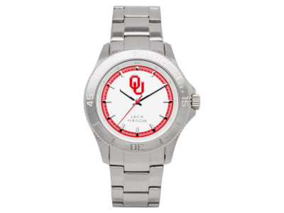 Oklahoma Sooners Men's Sport Bracelet Silver Watch