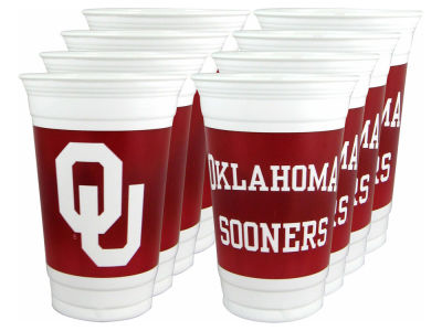Oklahoma Sooners 16oz Cups 8 Pack