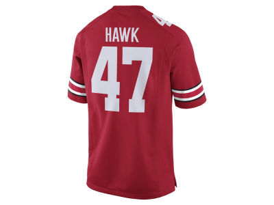 Ohio State Buckeyes A. J. Hawk Nike NCAA Men's Player Game Jersey