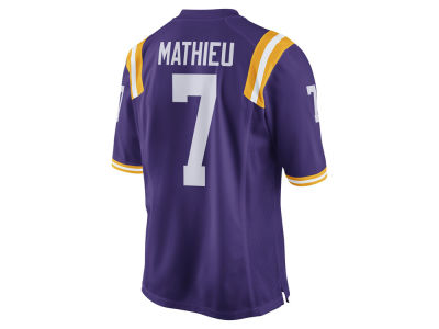 LSU Tigers Tyrann Mathieu Nike NCAA Men's Player Game Jersey