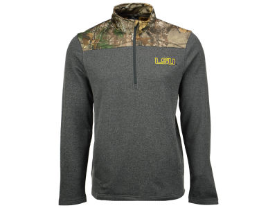 LSU Tigers NCAA Men's Realtree Timber 1/2 Zip Jacket
