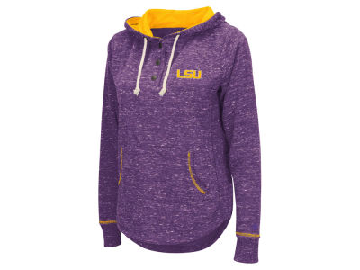 LSU Tigers Colosseum NCAA Women's Sunset Henley Hoodie