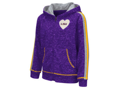 LSU Tigers NCAA Youth Girls Tai Full Zip Hoodie