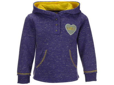 LSU Tigers Colosseum NCAA Toddler Girls Sunset Henley Hoodie