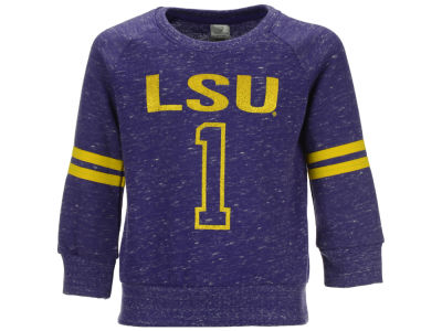 LSU Tigers NCAA Toddler Girls Party Vibe Raglan Sweatshirt